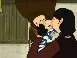 Zuko and Mai Spiderman kiss by Cricky-Vines