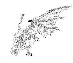 Natsu Dragoon by Painteria