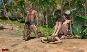 Gazza Request - Beach Party by NightFall-1