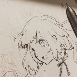 WIP pen drawing by lita426t