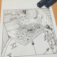 Inktober2018 Day14 : Clock by lita426t