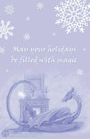 Holiday Magic - Fantasy Greeting Card by Nightlyre
