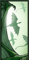 Dragon Flight Bookmark by Nightlyre