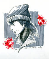 Inktober2015 - [P3]: Shinjiro Aragaki by ZioCorvid
