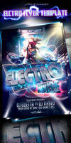 Electro Party Flyer Template by yAniv-k
