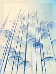 Umbrellas under sunlight by crimsomnia