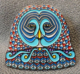 Owl Face Pin - Series 1 by PhilLewis