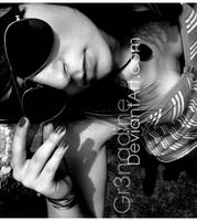 Retro-Glasses 04 noir et blanc by gr3nadine