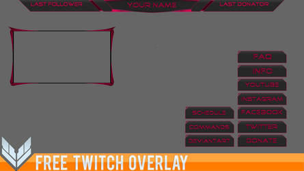Overlay [Free Twitch Template] #2 by Ayzs