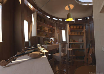 Luthier Workshop-Interior by ironsonic