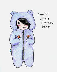 poor little maracca bear by johnnysunshine