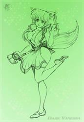 Kasumi like Kitsune-Commissio- by Dark-Vanessa