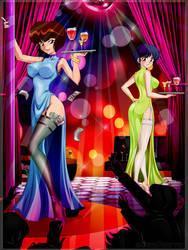 Nabiki and Akane - Commission by Dark-Vanessa
