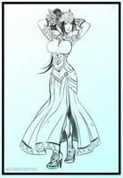 Valkirie Sketch - Commission by Dark-Vanessa