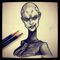 Asajj Ventress - Daily Sketch by Geekincognito