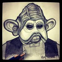 Nien Nunb - Daily Sketch by Geekincognito