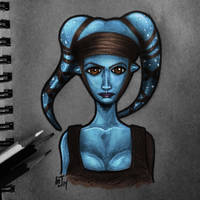 Aayla Secura - Daily Sketch by Geekincognito