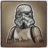 Stormtrooper - Daily Sketch by Geekincognito