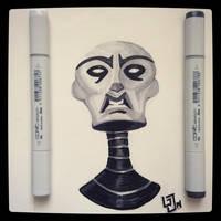 Asajj Ventress - Copic Sketch by Geekincognito