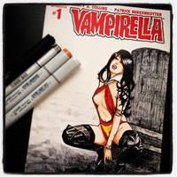 Vivid Vivka Vampirella Sketch Cover by Geekincognito