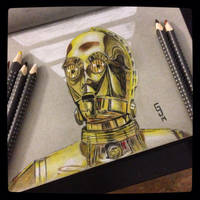 C3PO - Daily Sketch by Geekincognito