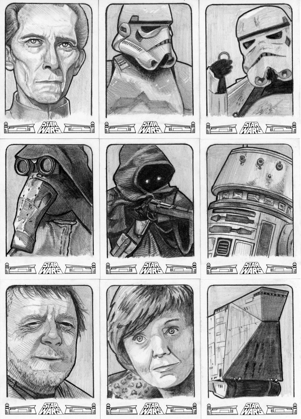 Topps Star Wars 40th Anniversary Sketch Cards by Geekincognito