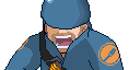 TF2 Sprite - BLU Soldier by juanito316ss