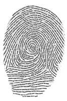 Fingerprint poster by dirkwilliams