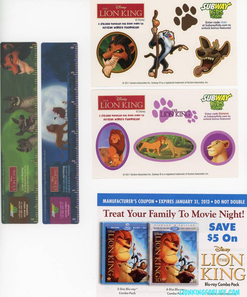 Lion King Subway Kids Meal Toys By Lionkingforlife On Deviantart