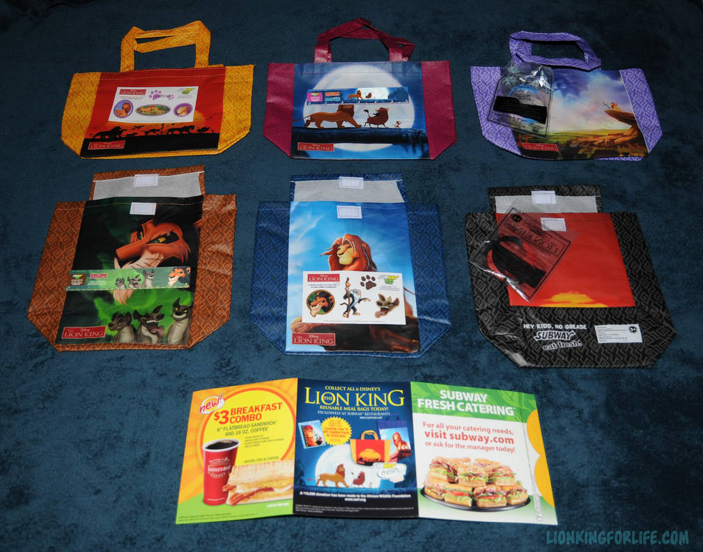 Lion King Subway Kids Meals With Toys By Lionkingforlife On Deviantart