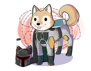 Patreon Commission: Shiba Inu Boba Fett by JaidenAnimations