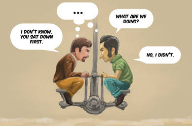 A Way Out Fanart: What Are We Doing? by Xavy-027