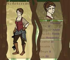Aedoterene: Rhiannon, Horsemaster by ShyVioletLady
