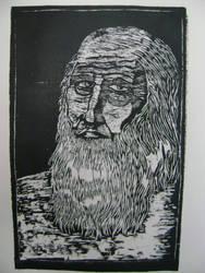 Retrato Leonardo da Vinci by BakaNyaNya