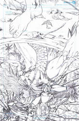 Prymal:The Jungle Warrior 5 Cover Pencils by ericalannelson