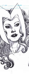 Scarlet Witch pencils preview by ericalannelson