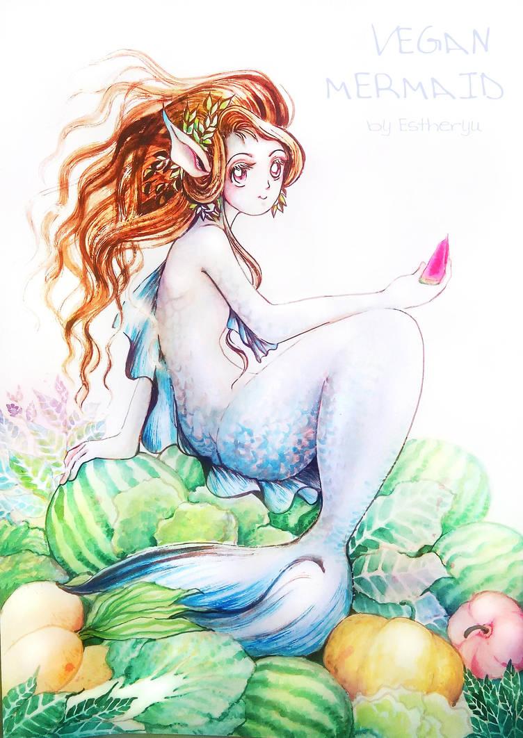 vegan mermaid by Estheryu