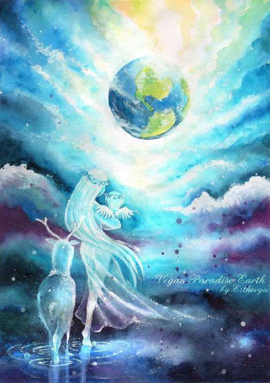 Vegan paradise Earth by Estheryu