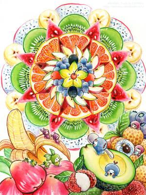 Mandala Fruits by Estheryu