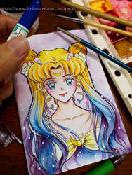 sailor moon queen serenity by Estheryu