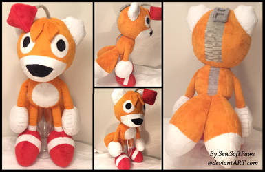 Tails Doll from Sonic R plush by SewSoftPaws