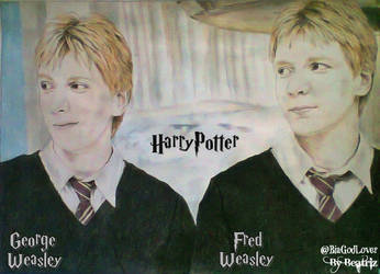 Fred and George - Harry Potter - Drawing by BeatrizLoveMyJesus