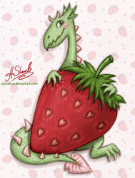 ...Strawberry dragon... by ArinaFoxy