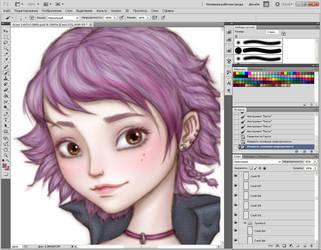 Work in progress by ArinaFoxy