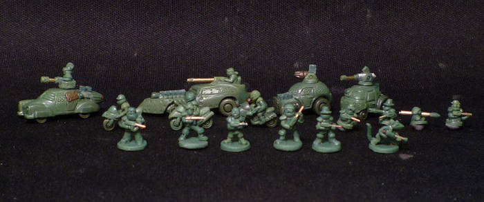 6mm scale wasteland vehicles and infantry 2 by MechanicalHorizon