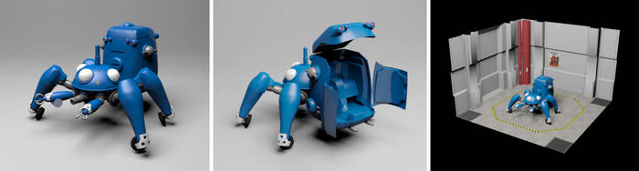 Ghost in the Shell Tachikoma and hangar bay by MechanicalHorizon