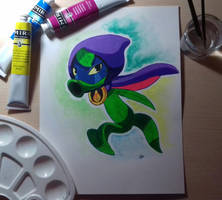Green Shadow [+Time Lapse] by ElKhronista