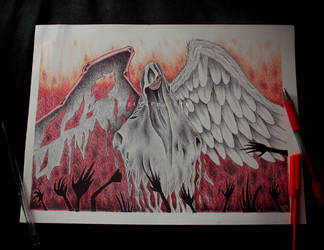 The wings of Death by ElKhronista