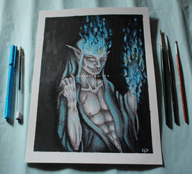 Hades, Lord of Underworld by ElKhronista
