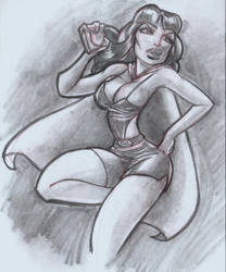Phantom lady Sketch Commission by mainasha